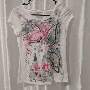Justice girls fairy shirt